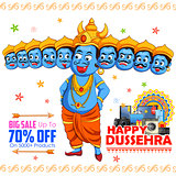 Ravana for Happy Dussehra sale promotion