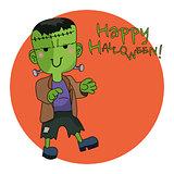 Cute Halloween character - Frankenstein