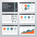 Infographics presentation template flat design