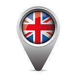 UK pointer vector flag