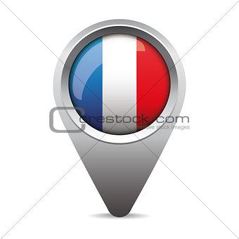 France pointer vector flag