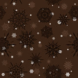 Seamless texture with snowflakes.