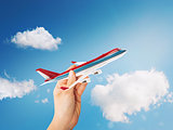 3D Rendering toy airliner