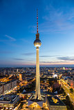 Panoramic view of Berlin, Germany.