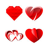 Set of Miscellaneous Sweet Romantic Hearts