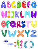 Cartoon letters