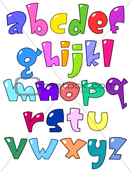 Cartoon small alphabet