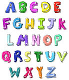 Colorful letters hand written