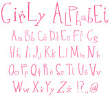 Girly alphabet