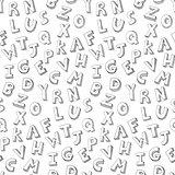 Letters hand written pattern