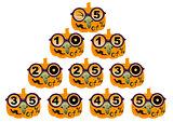 Halloween sale. Set pumpkin discount of 5 to 50 percent