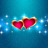 Love star background beautiful bright hearts. Vector eps10 illustration.