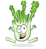 Cartoon Happy Fennel Character