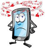 fun mobile social cartoon