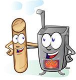 fun stove and pellet cartoon