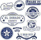 El Dorado county, CA. Stamps and signs