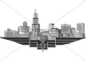 Cityscape and skyline of Chicago, Illinois