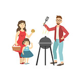Barbeque Picnic For Family