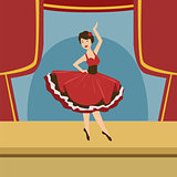 Ballerina In Stylized Spanish Dress Solo Dance