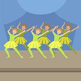 Kids Synchronized Modern Dance Performance