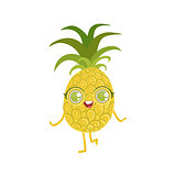 Pineapple Girly Cartoon Character
