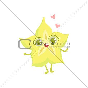 Carambola Girly Cartoon Character