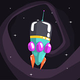 Alien Rocket Spaceship Is Classic Design