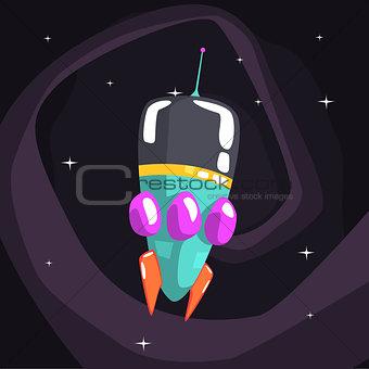 Alien Rocket Spaceship Is Classic Design