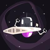 Alien Robotic UFO Spacecraft With Metal Arms