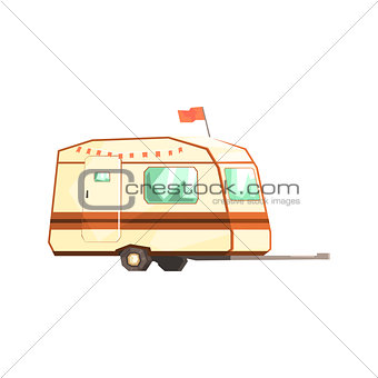 Small Camping Trailer On Two Wheels