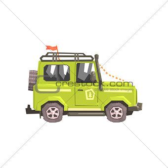 Green suv Safari Car