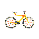 Futurictic Design Yellow Bicycle