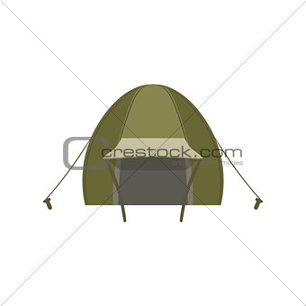 Green Tent Set With Ropes And Pegs