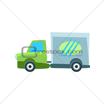 Small Delivery Truck Toy Cute Car Icon
