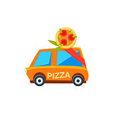 Pizza Delivery Toy Cute Car Icon