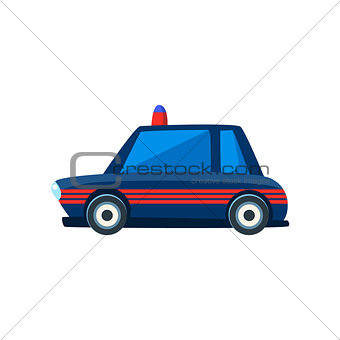 Black Police Toy Cute Car Icon
