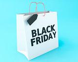3d Black friday on shopping bag.