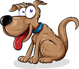 fun dog cartoon
