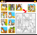 jigsaw puzzle activity with dogs