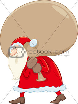 santa claus with big sack