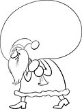 santa with sack coloring book