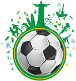 brazil symbol set  with soccer ball