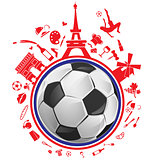 soccer ball with france symbol