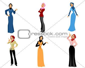 Six modern women