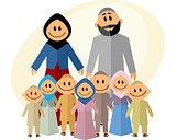 Big muslim family