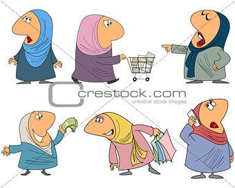 Six muslim woman