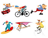 Six sportsmans set