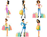 Shopping girls set