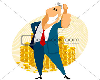 Businessman with gold