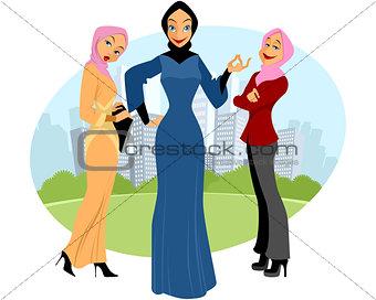 Three muslim girls